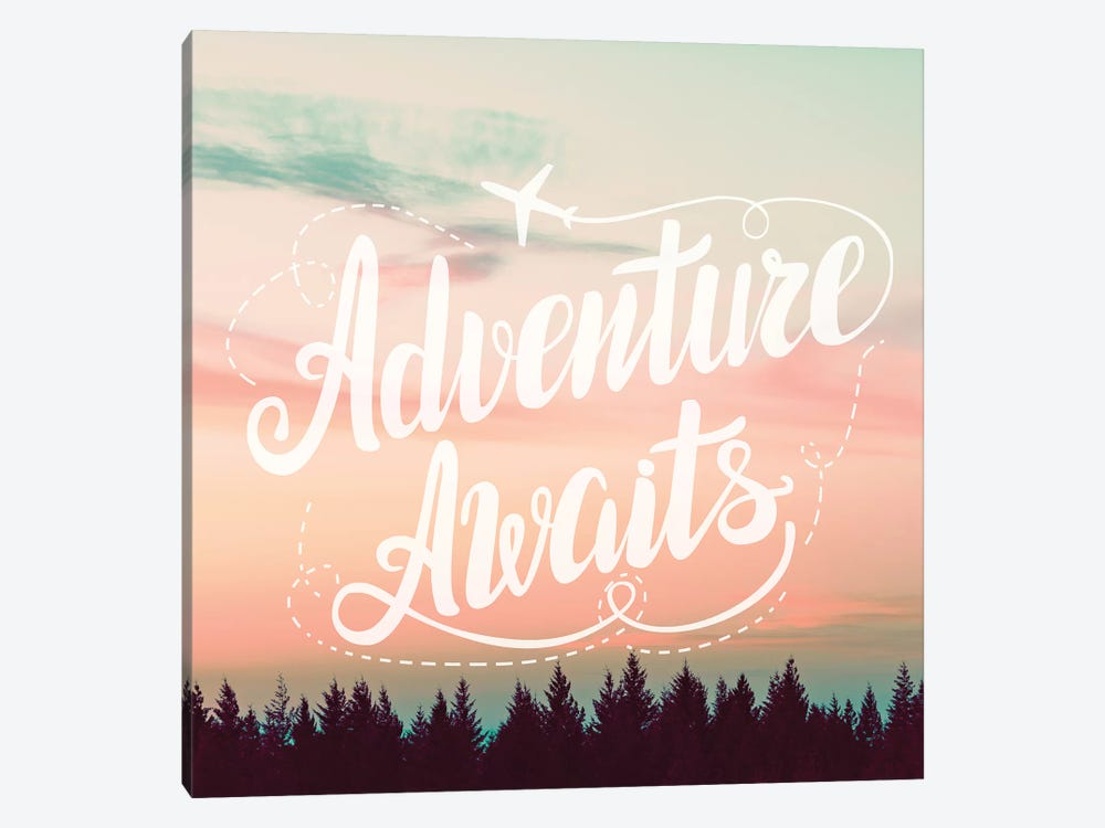 Adventure Awaits In Forest Sunset by Nature Magick 1-piece Canvas Wall Art