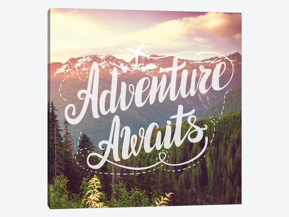 Adventure Awaits In Mountain Forest by Nature Magick 1-piece Canvas Art Print