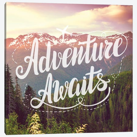 Adventure Awaits In Mountain Forest Canvas Print #MGK213} by Nature Magick Canvas Print