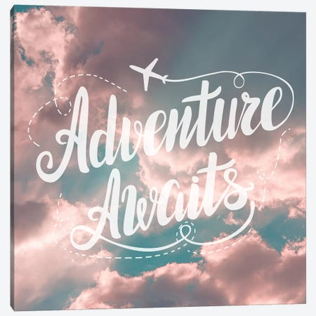 Adventure Awaits In Pink and Turquoise Sky Canvas Print #MGK214} by Nature Magick Canvas Art