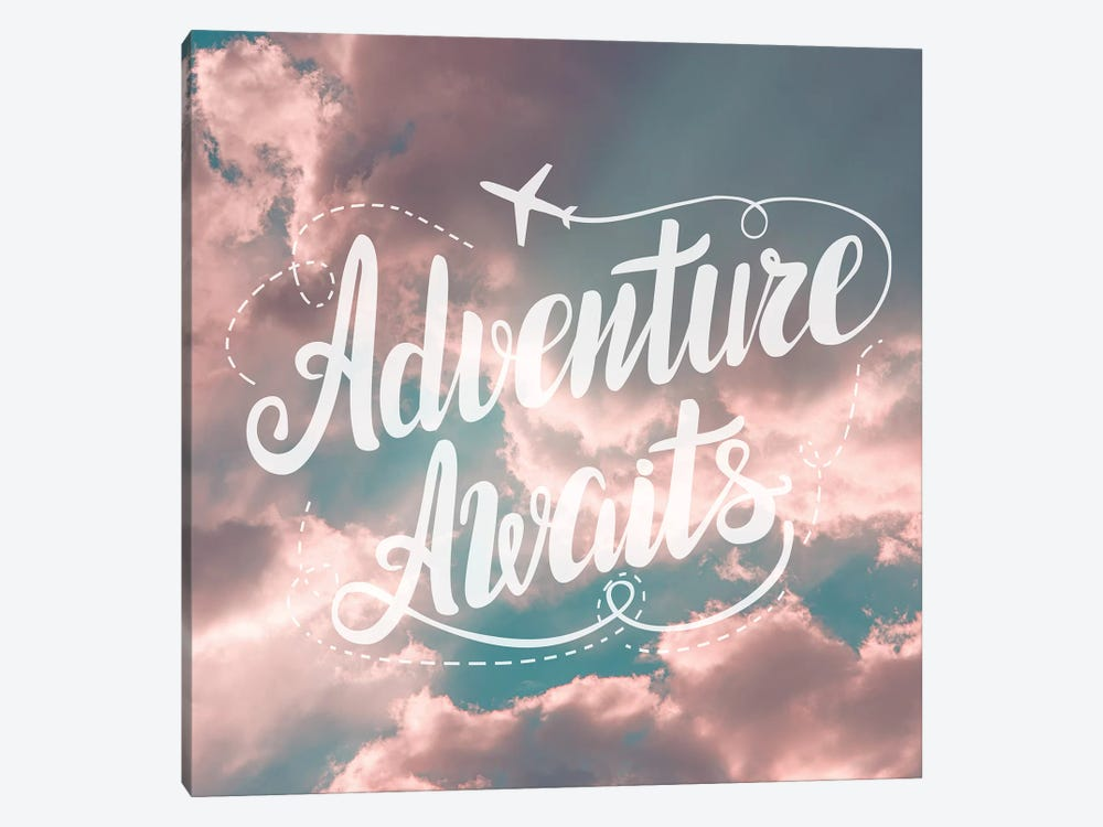 Adventure Awaits In Pink and Turquoise Sky by Nature Magick 1-piece Canvas Art