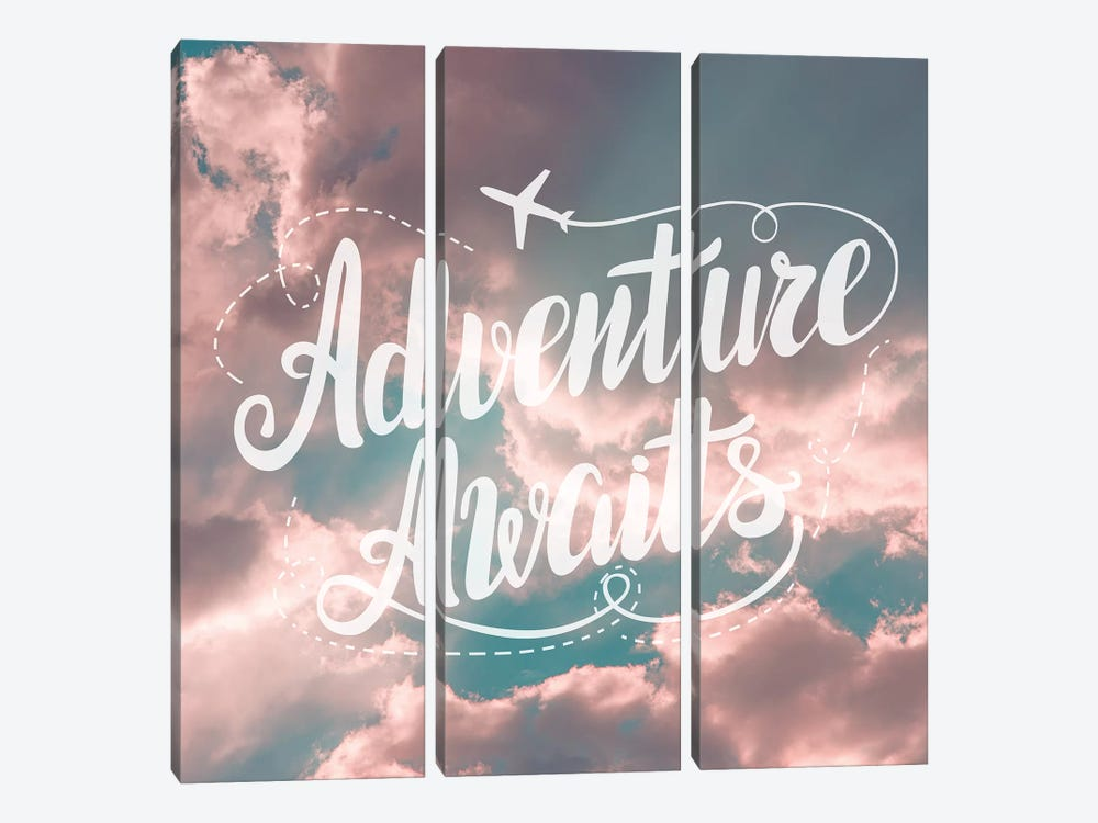 Adventure Awaits In Pink and Turquoise Sky by Nature Magick 3-piece Canvas Art