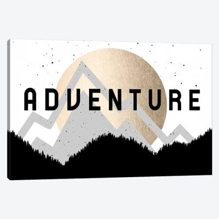 Adventure Gold Sun Mountain Forest Canvas Print #MGK216} by Nature Magick Canvas Artwork