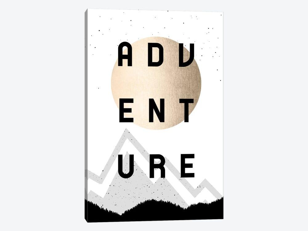 Adventure Gold Sun Mountain Forest Portrait by Nature Magick 1-piece Art Print