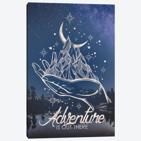 Adventure Is Out There Mountain Stars Reflection Canvas Print #MGK218} by Nature Magick Canvas Print