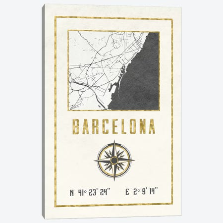 Barcelona, Spain 3-Piece Canvas #MGK227} by Nature Magick Canvas Print