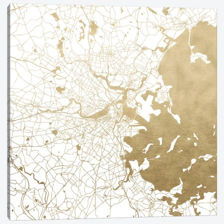 Boston Massachusetts City Map Canvas Print #MGK22} by Nature Magick Canvas Wall Art