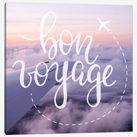 Bon Voyage Airplane Sunrise Canvas Print #MGK240} by Nature Magick Canvas Artwork