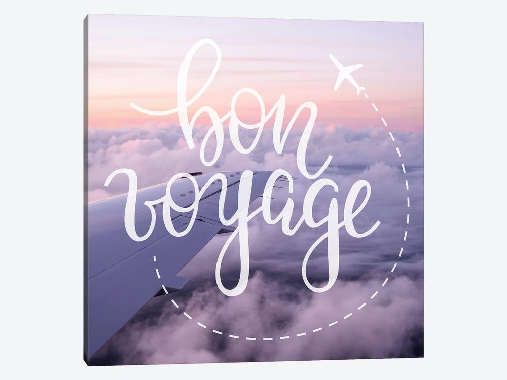 Bon Voyage Airplane Sunrise by Nature Magick 1-piece Canvas Art Print