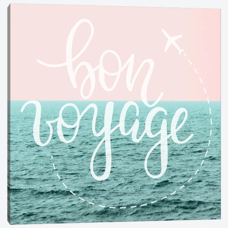 Bon Voyage Pastel Sky Marble Waves Canvas Print #MGK241} by Nature Magick Canvas Wall Art