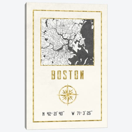 Boston, Massachusetts 3-Piece Canvas #MGK249} by Nature Magick Canvas Artwork