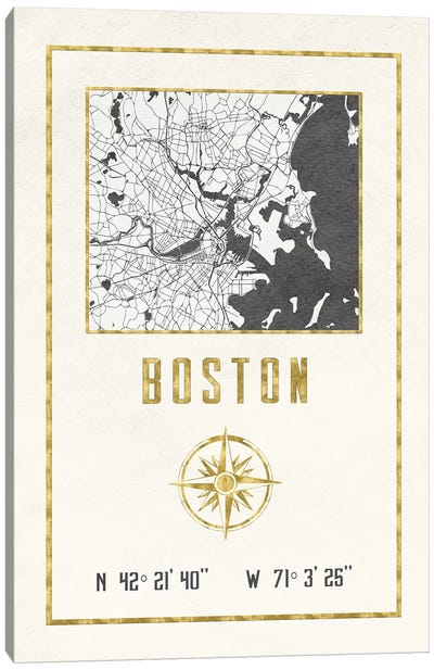 Boston, Massachusetts Canvas Art Print