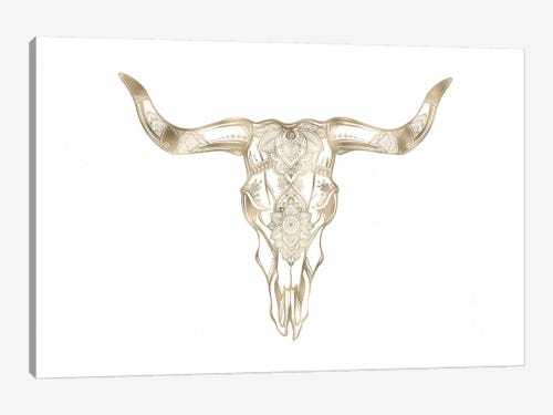 bull skull art print by nature magick icanvas