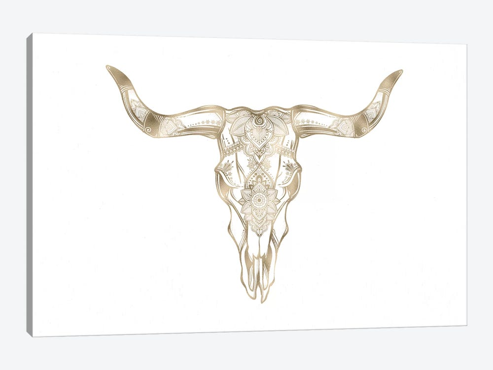 Bull Skull by Nature Magick 1-piece Canvas Wall Art