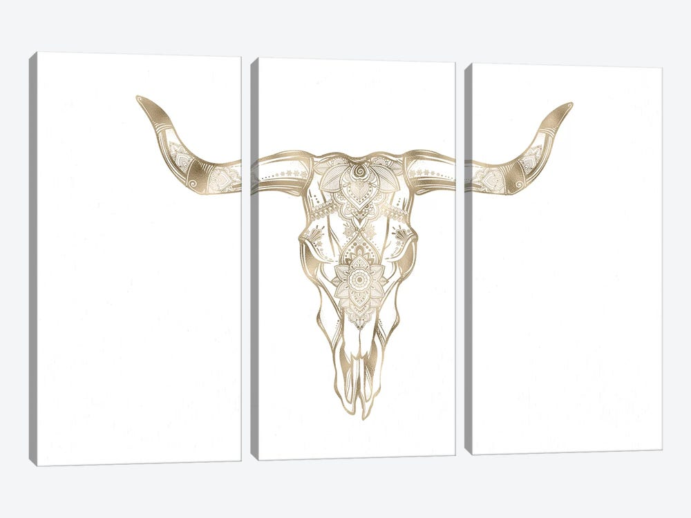 Bull Skull by Nature Magick 3-piece Canvas Art