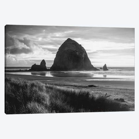 Cannon Beach Oregon Coast Black and White Canvas Print #MGK251} by Nature Magick Art Print