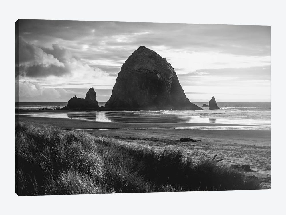 Cannon Beach Oregon Coast Black and White by Nature Magick 1-piece Art Print