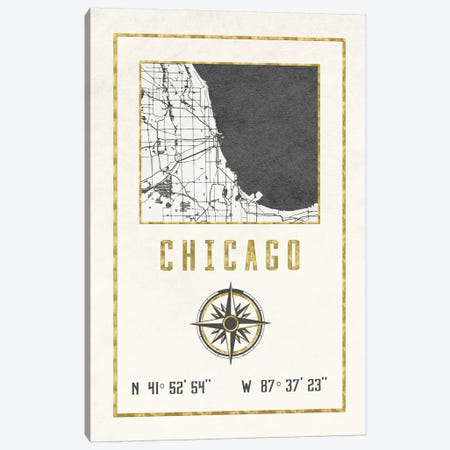 Chicago, Illinois Canvas Print #MGK253} by Nature Magick Art Print