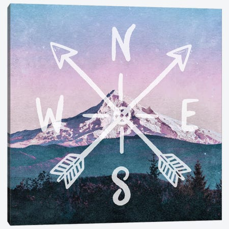 Rose Gold Mountain Canvas Print #MGK257} by Nature Magick Canvas Wall Art