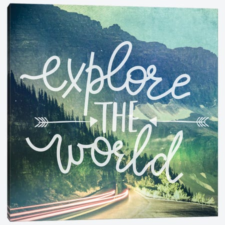 Explore The World In Mountain Road Canvas Print #MGK277} by Nature Magick Canvas Wall Art