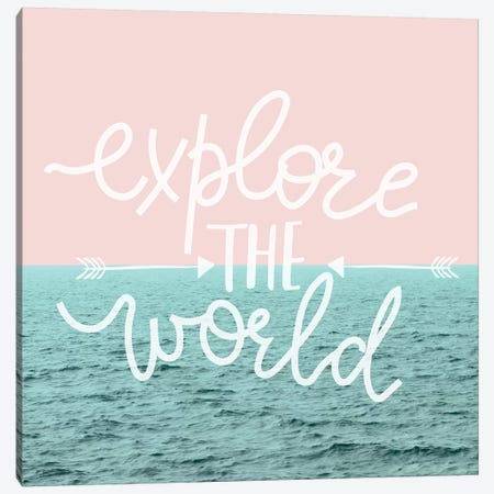 Explore The World In Pastel Ocean Sky Canvas Print #MGK278} by Nature Magick Canvas Print