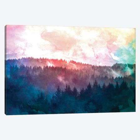 Fir Forest Watercolor II Canvas Print #MGK281} by Nature Magick Canvas Artwork