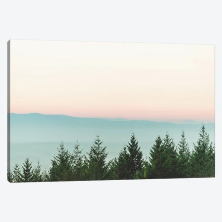 Forest Sunset Pink Sky Mountain Fog Canvas Print #MGK284} by Nature Magick Canvas Print