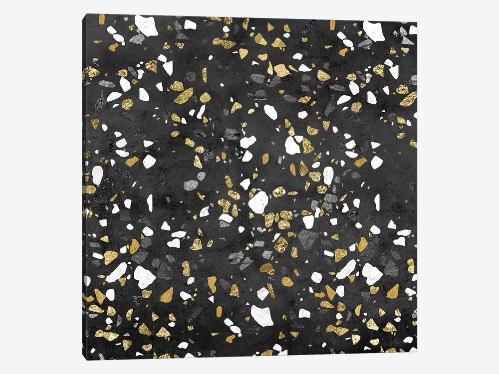Gold Silver Marble Terrazzo by Nature Magick 1-piece Canvas Artwork