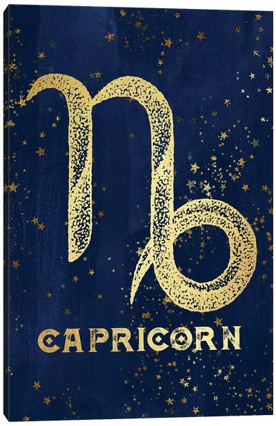 Capricorn Zodiac Sign Canvas Art Print