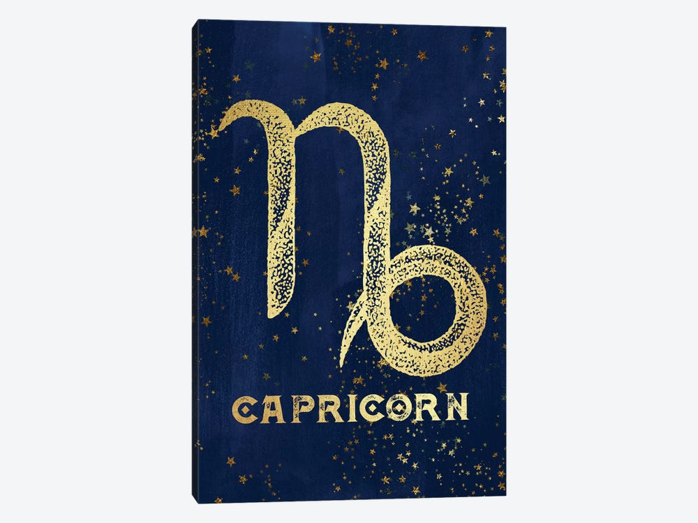 Capricorn Zodiac Sign by Nature Magick 1-piece Canvas Artwork