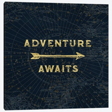 Adventure Awaits In Metallic Gold Canvas Print #MGK2} by Nature Magick Canvas Artwork
