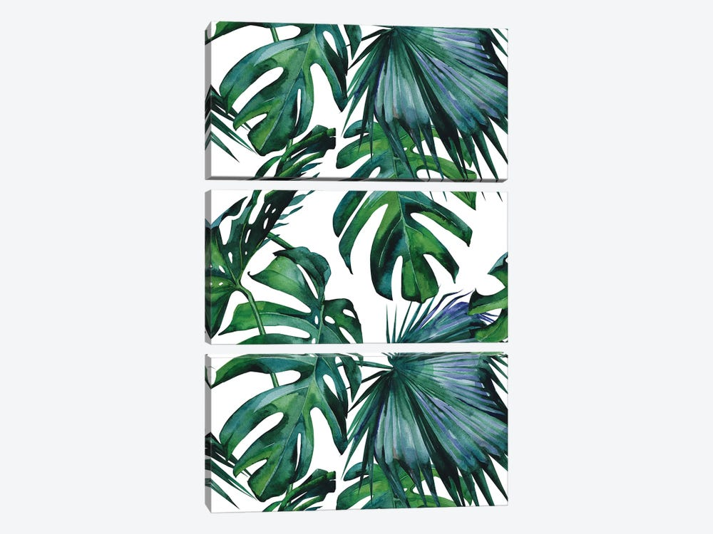 Classic Palm Leaves by Nature Magick 3-piece Art Print