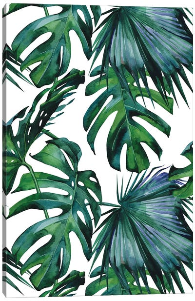 Classic Palm Leaves Canvas Art Print