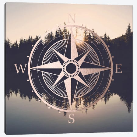 Compass Sunrise Mount Hood Oregon Canvas Print #MGK33} by Nature Magick Art Print