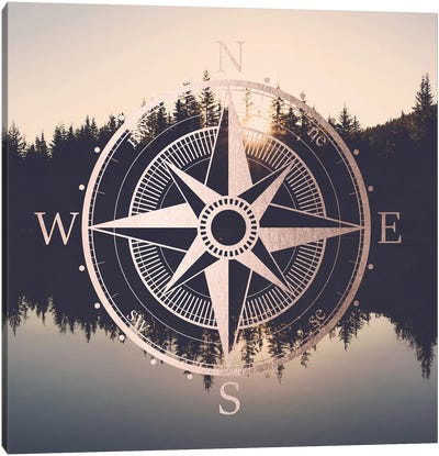 Compass Sunrise Mount Hood Oregon Canvas Art Print