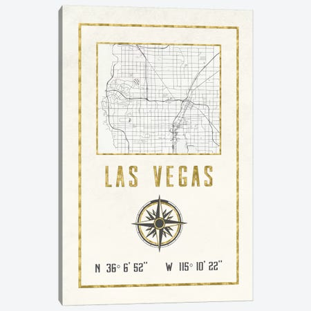 Las Vegas, Nevada Canvas Print #MGK342} by Nature Magick Art Print