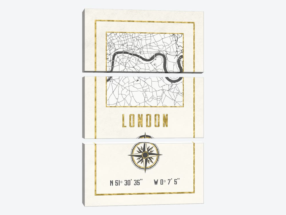 London, England, UK by Nature Magick 3-piece Canvas Print