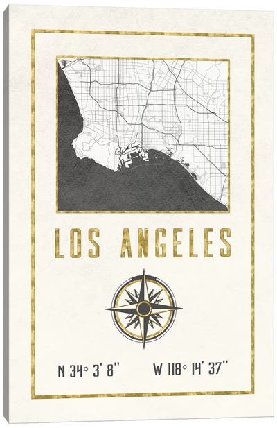 Los Angeles, California Canvas Art Print