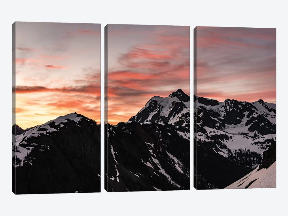 Dawn In The Mountains by Nature Magick 3-piece Art Print