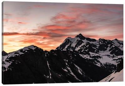 Dawn In The Mountains Canvas Art Print