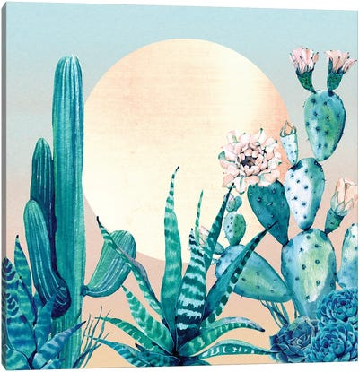 Desert Dawn Cactus I Canvas Art Print