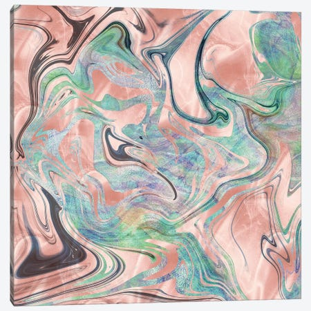 Rose Gold, Pink & Turquoise Canvas Print #MGK364} by Nature Magick Canvas Wall Art