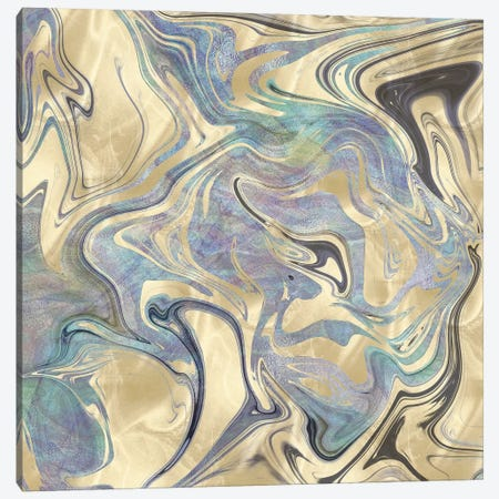 Marble Gold and Iridescent 3-Piece Canvas #MGK369} by Nature Magick Canvas Art Print