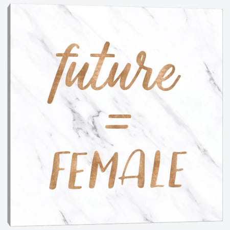 Marble In Future = Female Copper Gold Canvas Print #MGK370} by Nature Magick Canvas Artwork