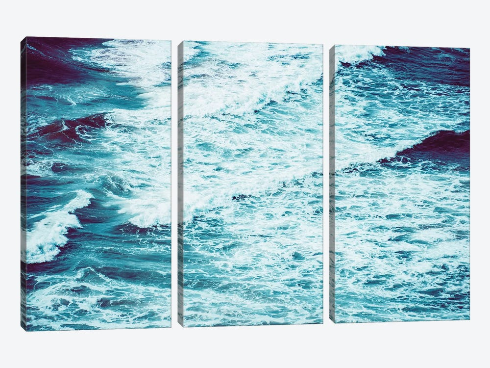 Marbled Waves Crashing by Nature Magick 3-piece Art Print