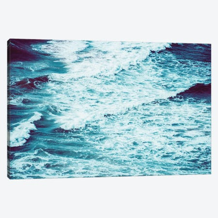 Marbled Waves Crashing Canvas Print #MGK374} by Nature Magick Art Print