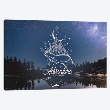 In Adventure Is Out There Gold Mountain Galaxy Canvas Print #MGK378} by Nature Magick Canvas Artwork