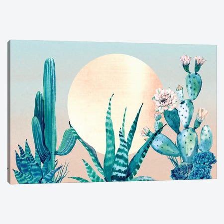 Desert Dawn Cactus III Canvas Print #MGK37} by Nature Magick Canvas Wall Art