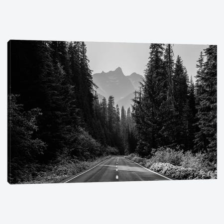 Mountain Road Black and White Unicorn Peak Canvas Print #MGK392} by Nature Magick Canvas Art