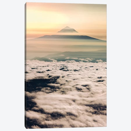 Mountain Sunrise Above the Clouds Canvas Print #MGK393} by Nature Magick Canvas Wall Art